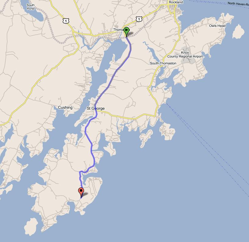 Tenants Harbor Maine Map.312 Port Clyde Road